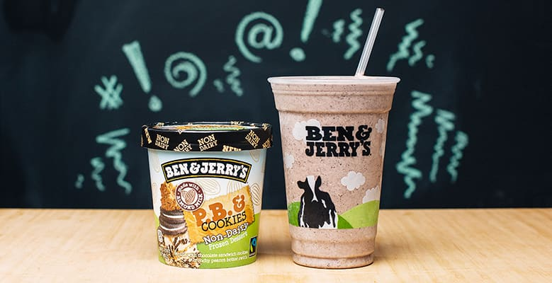 A milkshake and a pint of Ben & Jerry's ice cream