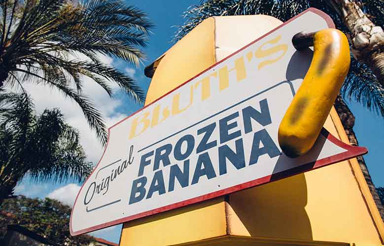 Bluth Banana Stand at the Burbank, CA Ben & Jerry's Scoop Shop, May 17, 2018