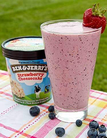 Very Berry Cheesecake Milkshake!