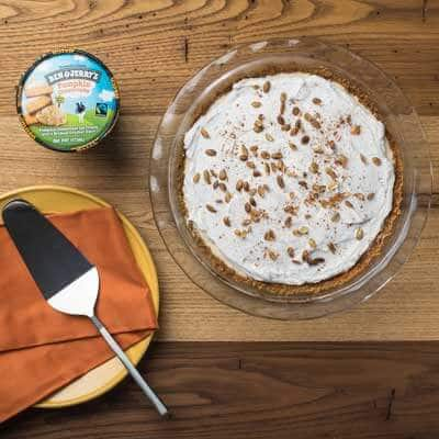 Pumpkin Cheesecake Ice Cream Pie