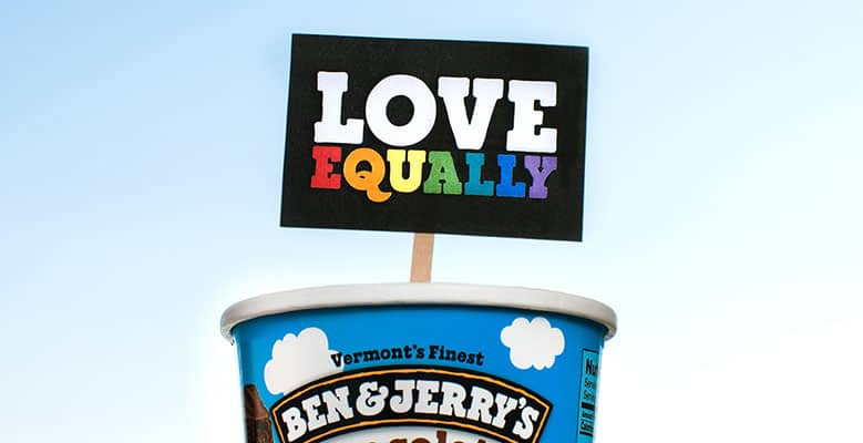 Ben & Jerry's supports marriage equality signed amicus brief