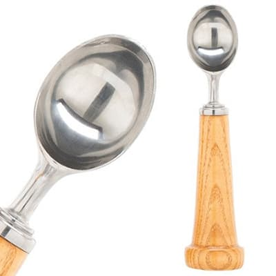 Baseball bat ice cream scoop