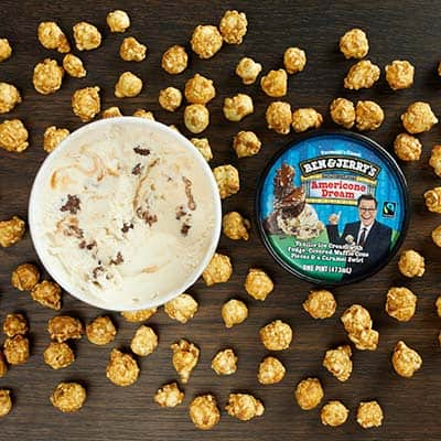 Ben & Jerry's Americone Dream with caramel corn