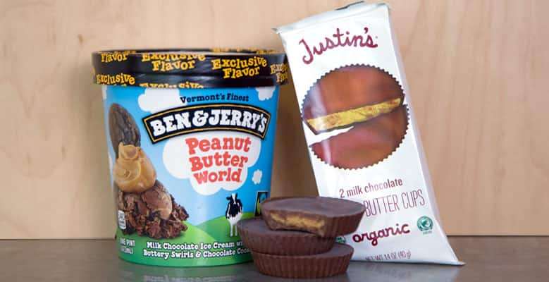 Ben & Jerry's peanut butter world + peanut butter cups