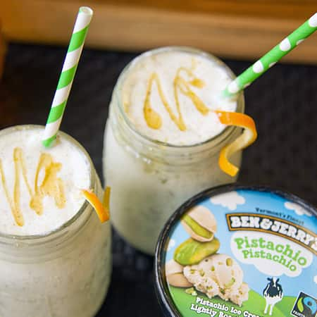 Pistachio, Orange & Honey Milkshake from Ben & Jerry's