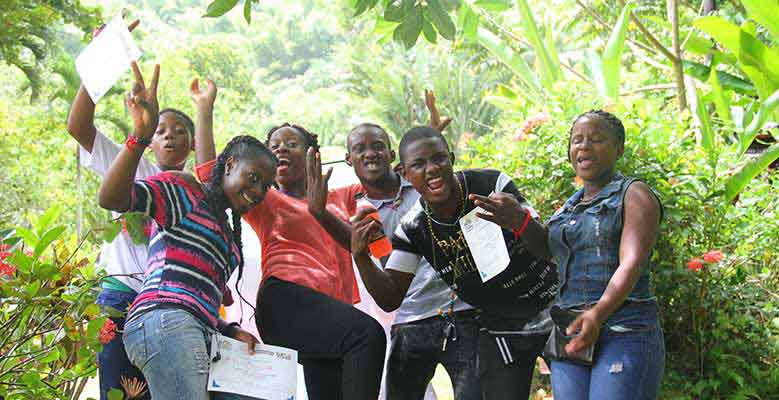 Young people at the One Love Youth Camp in Jamaica