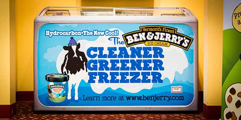Ben & Jerry's Cleaner Greener Freezer