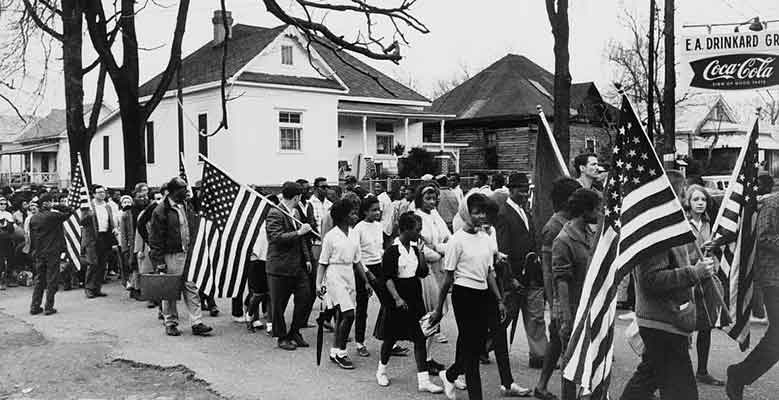 Marching from Selma to Montgomery, 1965
