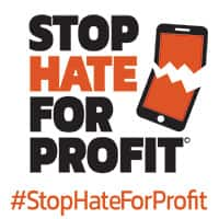 We're Joining The #StopHateForProfit Campaign