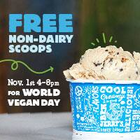 Free Scoops Of Non-Dairy For World Vegan Day!