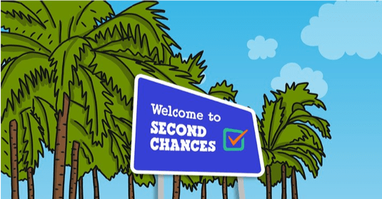 A sign reading Welcome to Second Chances