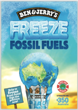 freeze fossil fuels poster