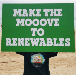 make the moooove to renewables poster