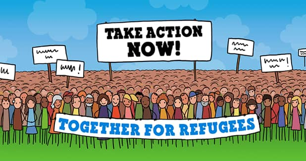 Take Action Now together-for-refugees image