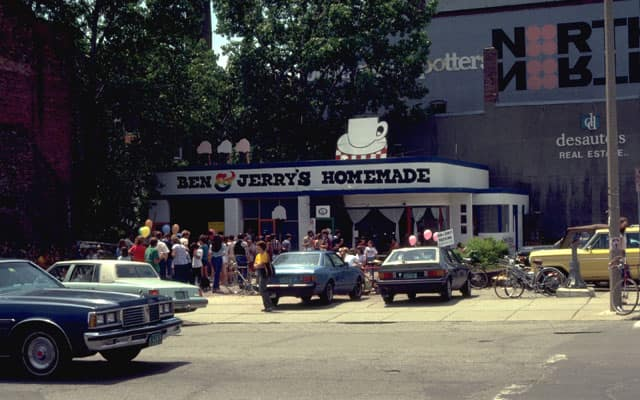 The first Ben & Jerry's ice cream shop