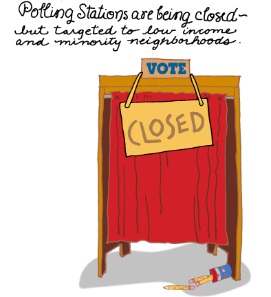 Polling Stations Are Being Closed