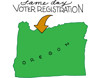 Oregon Has Same Day Voter Registration